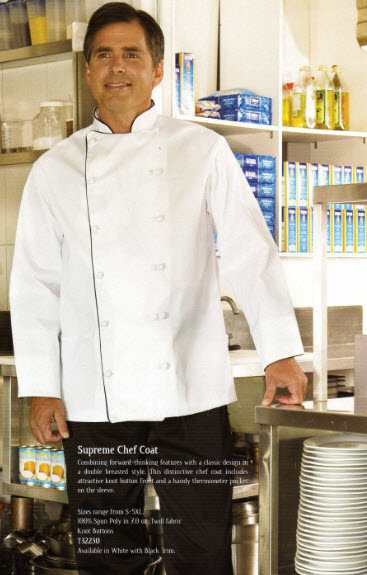 Chef Jacket, Supreme Chef Style, White - #T32230