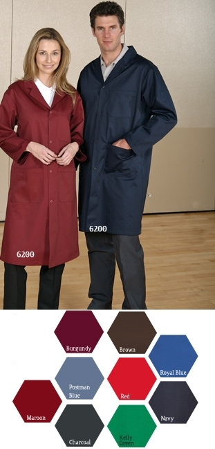 Premium Long Coat - 65/35 Heavy Duty Twil - Three Pocket