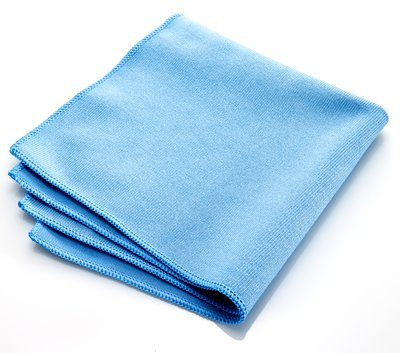 "Microfiber Glass Cleaning Cloth - 16x16"" - Blue Only"