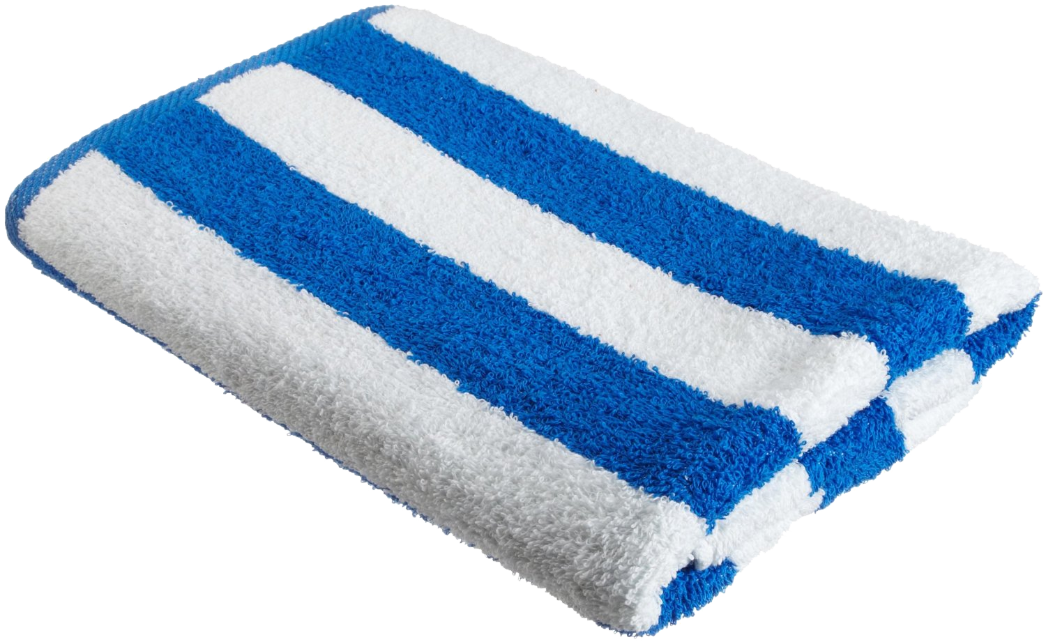 Cabana Towel Blue And White Stripe 30x60 Terry Towels