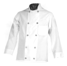 Chef Jacket, XG-Style - Standard Plastic Button - White