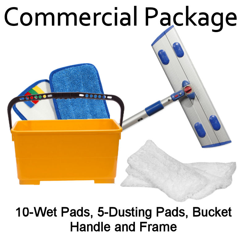 MicroClean Microfiber Commercial Mopping Starter Kit