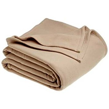 Hotel Blankets - Polyester Fleece Blankets - Tan only