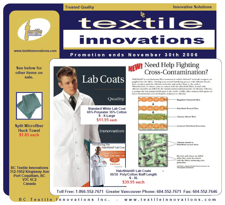 SilverClear Anti-Bacterial Lab Coats
