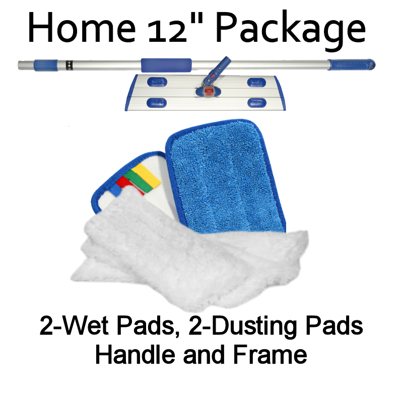 "MicroClean Microfiber 12"" Home Flat Mopping Starter Kit"
