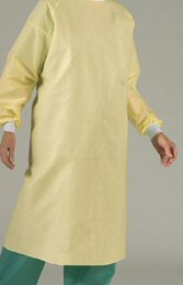 Patient Isolation Gown, Wingback, Yellow
