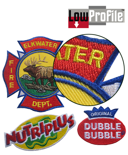 LowProfile Embroidered Emblems - Call for Pricing