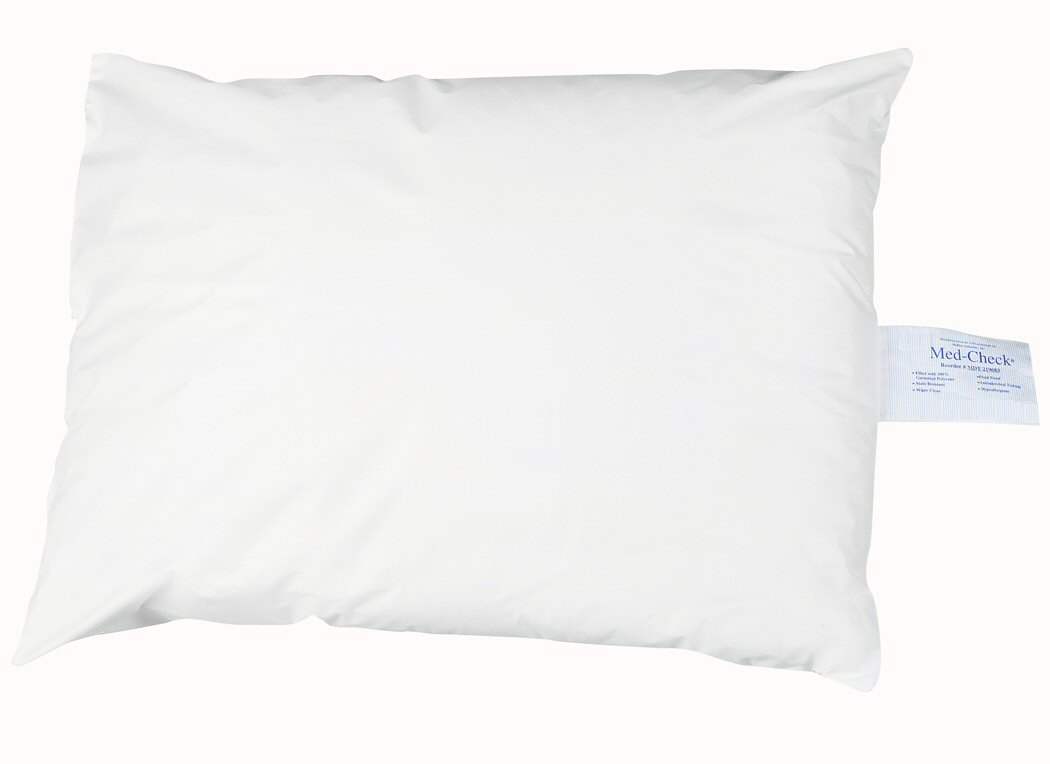 Med-Check® Pillows - Wipe Down Vinyl Pillow - White