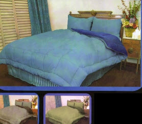Microfiber Twin Reversible Comforters - Click Image to Close