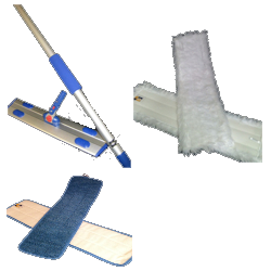 "MicroClean Microfiber 18"" Flat Mopping Starter Kit - Click Image to Close"