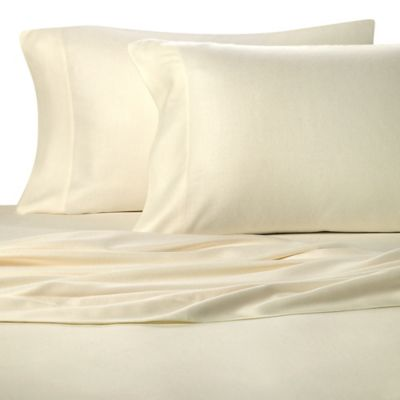 "Merit™ Spa Collection Flannel Pillowcase 21""x30"" - Natural"
