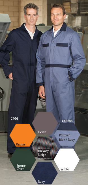 Button Front Coveralls - Premium Style - Cotton - SAC406