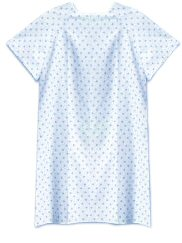Patient IV Gown, Wingback, Printed