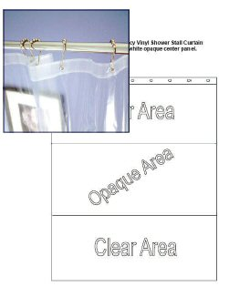 "Prison Approved Stall Curtain - Vinyl 36x78"" - Windowed - Click Image to Close"