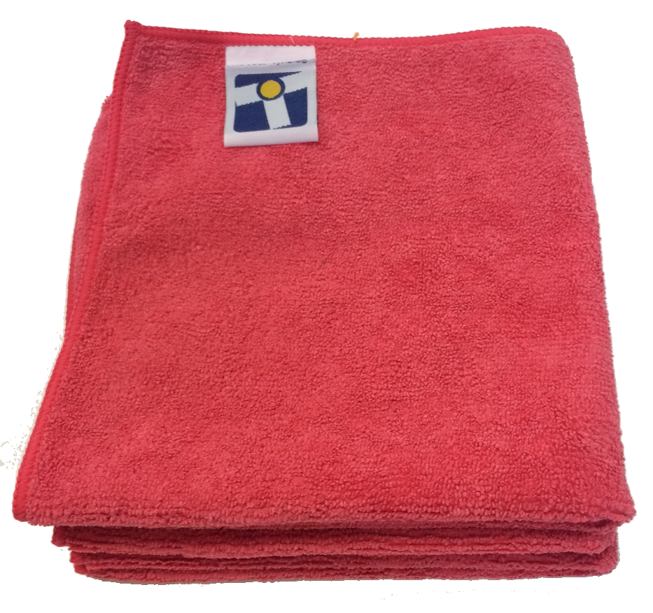 "Microfiber General Cleaning Cloth - 15x15"" - Red"