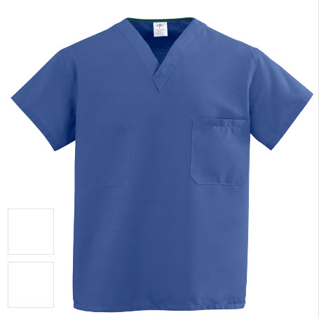 Clearance - Reversible Scrub Tops - Sapphire