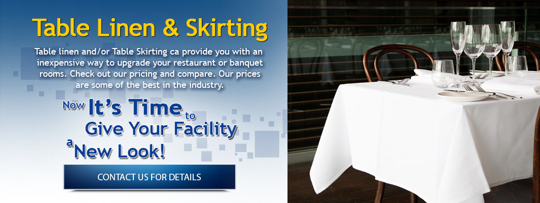 Table Linen and Skirting