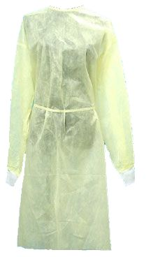 Disposable Spun Polyester Isolation Gowns - Yellow