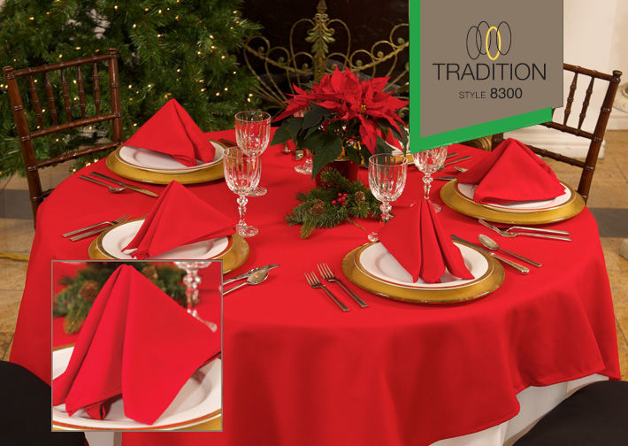 Tradition™ Polyspun Polyester Table Cloths - Dark Colours