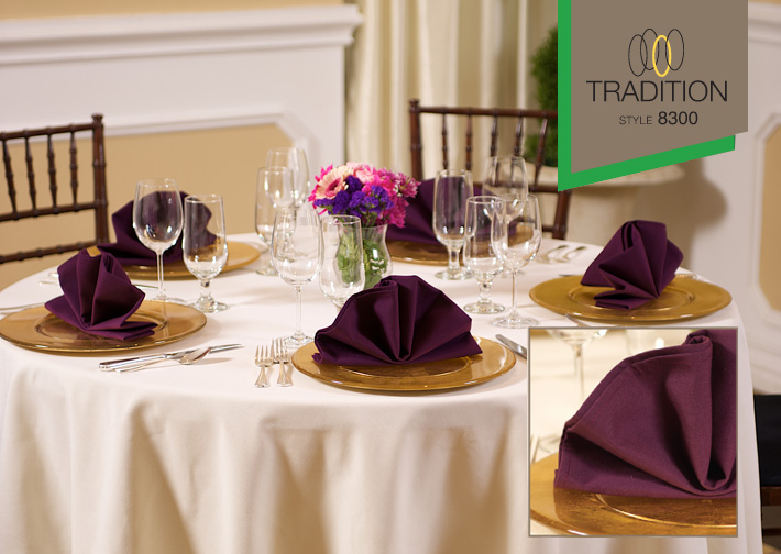 Tradition™ Polyspun Polyester Table Cloths - Light Colours