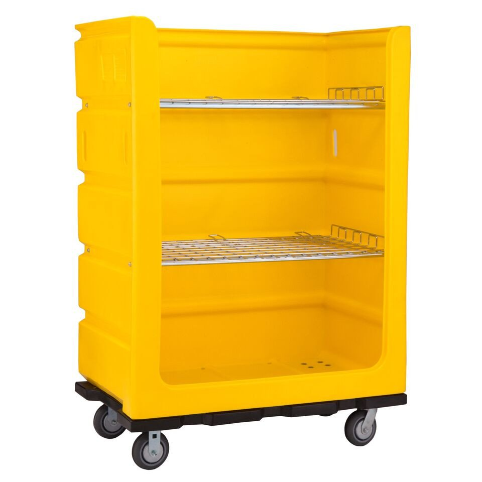 Plastic Linen Turnabout Truck - 48 Cubic Feet
