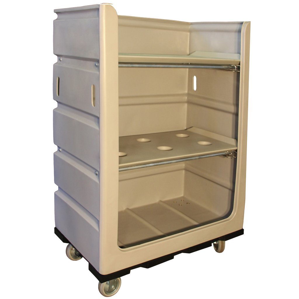 Plastic Linen Turnabout Truck - Plastic Shelves - 48 Cubic Feet