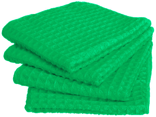 Microfiber Kitchen Waffle Cloth - 12X12 - Green