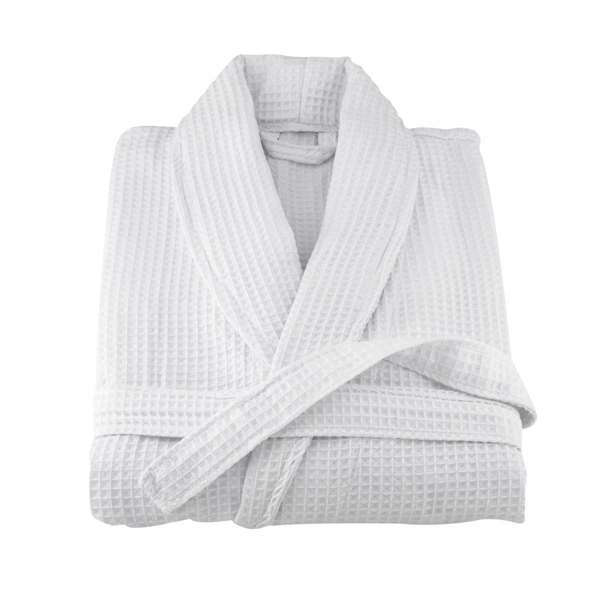 Bath Robe, Deluxe Waffle Weave, White