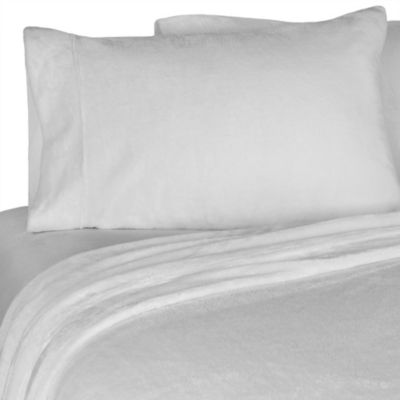 "Merit™ Spa Collection Flannel Pillowcase 21""x30"" - White"