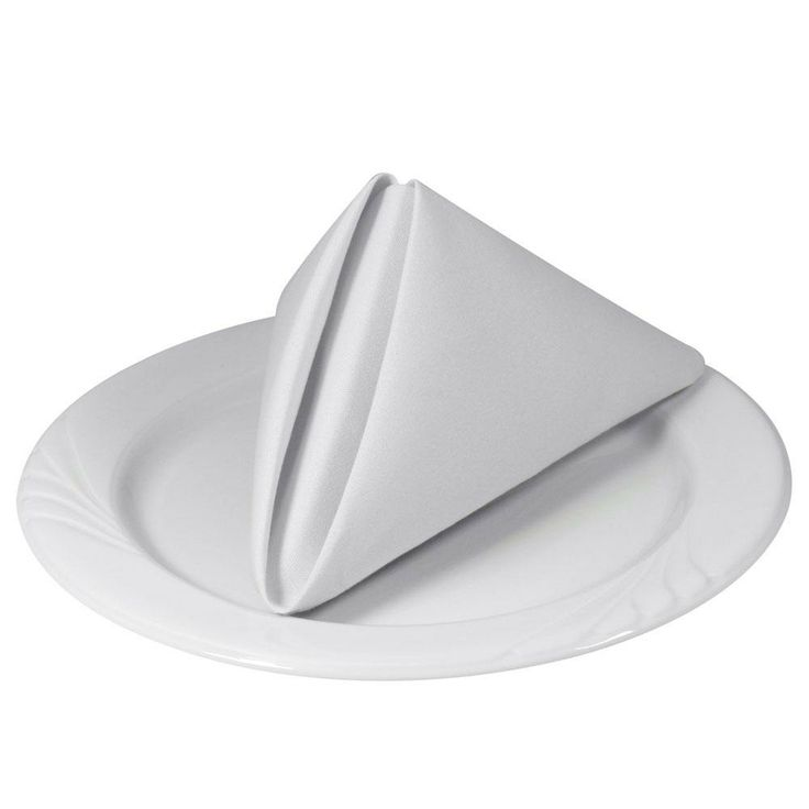 Tradition™ Polyspun Polyester Napkins - White