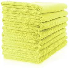 "Microfiber General Cleaning Cloth - 15x15"" - Yellow"