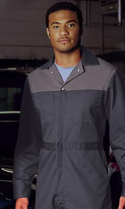 Zipper Front Coveralls - Premium Two Tone -PolyCotton - SAS41558